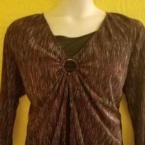 Studio 1940 Romantic Purple Shirt PLUS 2X 22/24